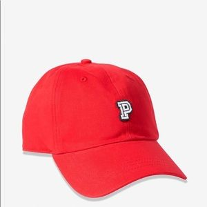 VS PINK HAT BASEBALL RED CAP P LOGO ADJUSTABLE NEW